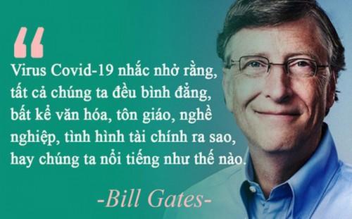 Thông điệp sâu sắc từ đại dịch Covid-19 qua góc nhìn của tỷ phú Bill Gates