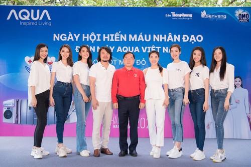 BTC Hoa hậu Việt Nam đồng hành cùng công ty Kim Aqua Việt Nam hiến máu cứu người