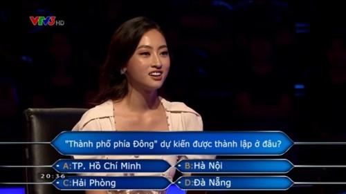 Hoa hậu Lương Thùy Linh chinh phục 11 câu hỏi hóc búa trong chương trình Ai là triệu phú