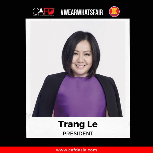 Bà Trang Lê – nhà sáng lập VIFW được bổ nhiệm vào chức vụ Chủ tịch Hiệp hội các Nhà thiết kế thời trang Đông Nam Á