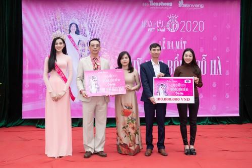 Hoa hậu Đỗ Hà ra mắt quỹ học bổng mang tên mình tại Thanh Hóa