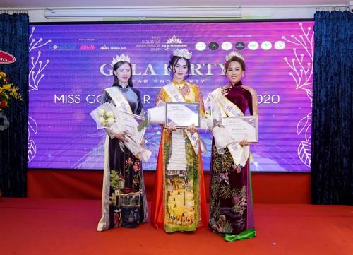 Top 3 Miss GoldStar Ambassador 2020 gọi tên Nguyễn Thị Thu Hà, Phạm Thị Tuyết và Võ Thị Minh Tâm