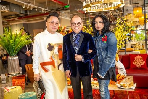 Diva Thanh Lam rạng rỡ tại tiệc trà đầu năm cùng doanh nhân Dương Quốc Nam và Tùng Dương