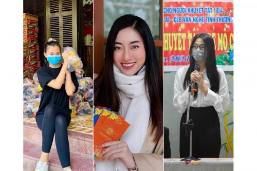 Những chuyến từ thiện cuối năm đầy ý nghĩa tại quê nhà của 3 nàng hậu 2K Đỗ Hà, Lương Thuỳ Linh và Tiểu Vy