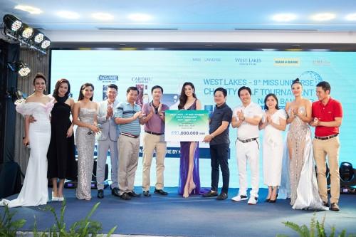 Giải Golf từ thiện Hoa Hậu Hoàn vũ Việt Nam quyên góp được 690 triệu đồng