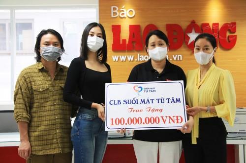 Dàn Hoa hậu Việt Nam kêu gọi quyên góp mua vaccine cho công nhân nghèo và trao tặng 100 triệu