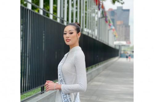 Hoa hậu Khánh Vân thăm Lãnh sự quán Việt Nam tại New York