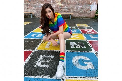 Hoa hậu Khánh Vân diện trang phục tôn vinh cộng đồng LGBTQ+ nhân Pride Month