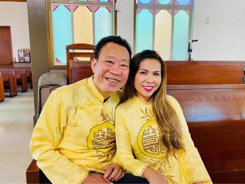 Trải qua thập tử nhất sinh, gia đình nghệ sỹ Cam Thơ – Lê Quang ấm êm kỷ niệm 27 năm ngày cưới.