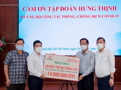 Tập đoàn Hưng Thịnh hỗ trợ khẩn cho TP HCM chống dịch