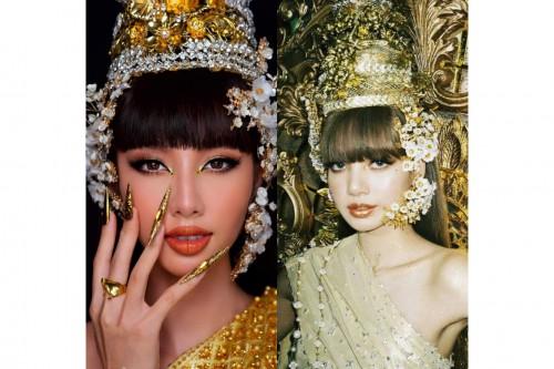 """Clip: Thùy Tiên gây ấn tượng bằng clip nói Tiếng Thái, lột xác trở thành """"công chúa Thái Lan"""" theo Lisa"""